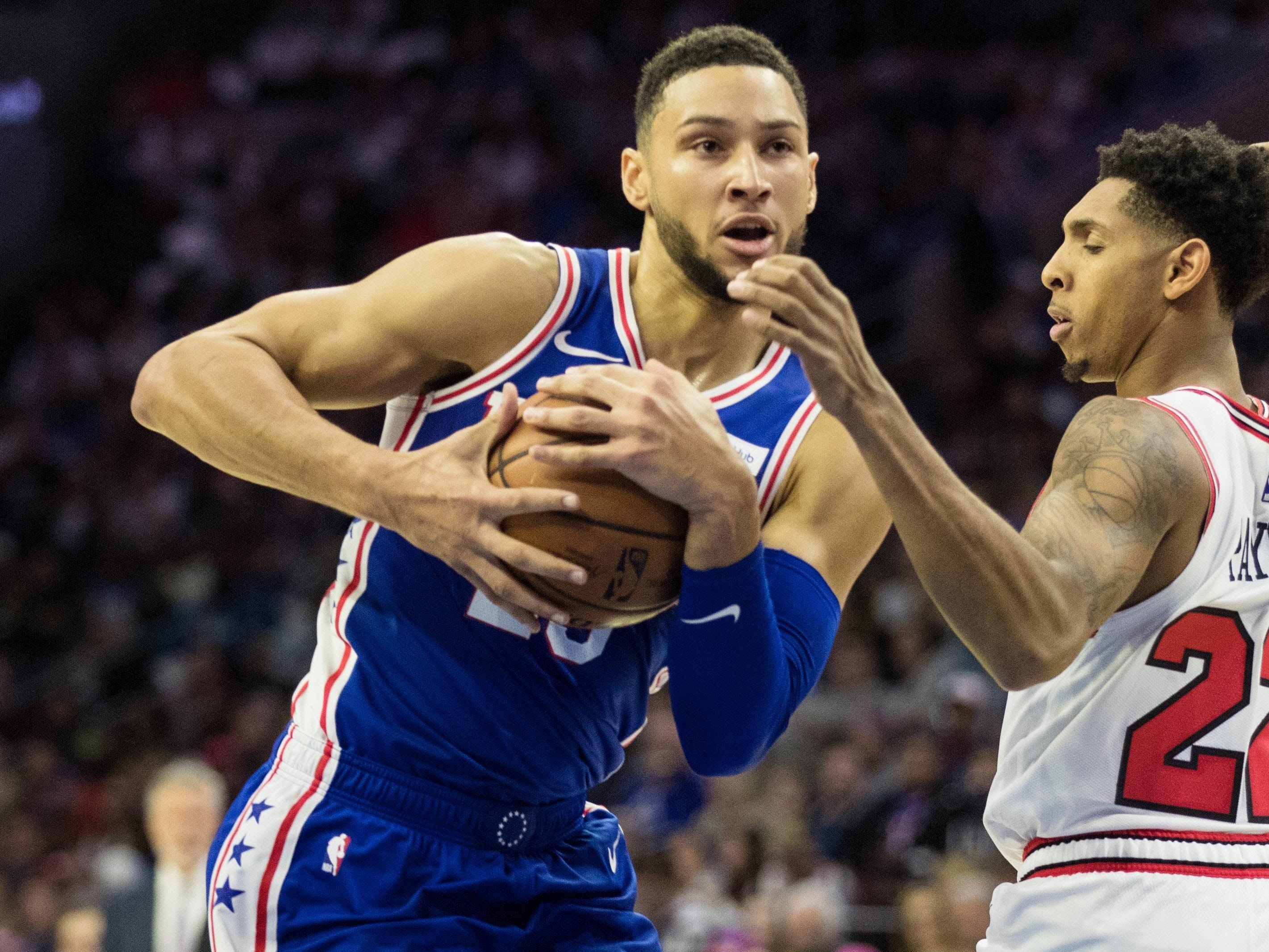2. Ben Simmons, 76ers (Oct. 18): 13 points, 13 rebounds, 11 assists in 127-108 win over Bulls.