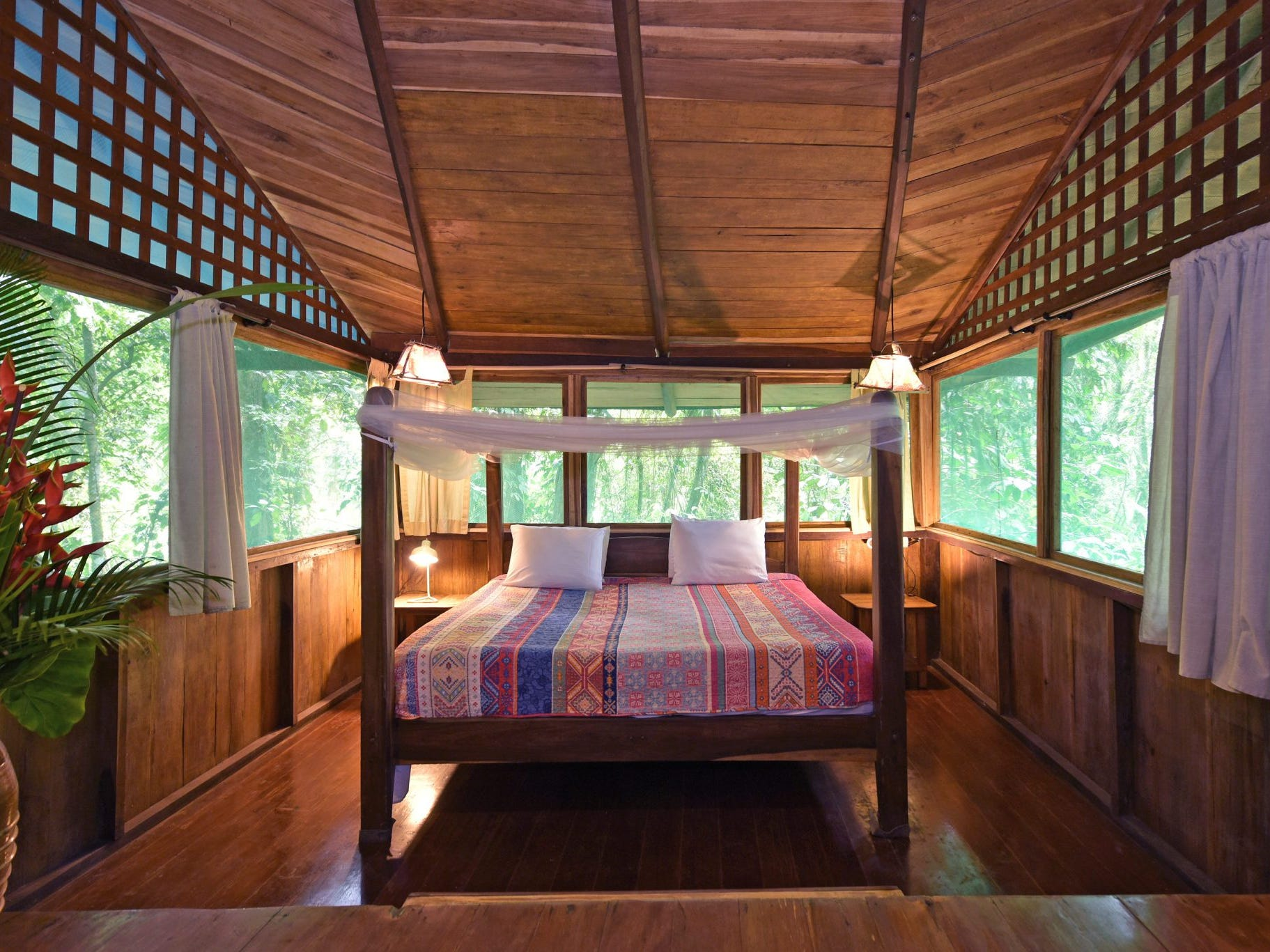 Rates at Costa Rica Tree House Lodge start as low as $200 per night for two guests.