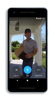 A smart doorbell or security camera will alert your phone or tablet when it senses movement to help prevent theft or burglary.