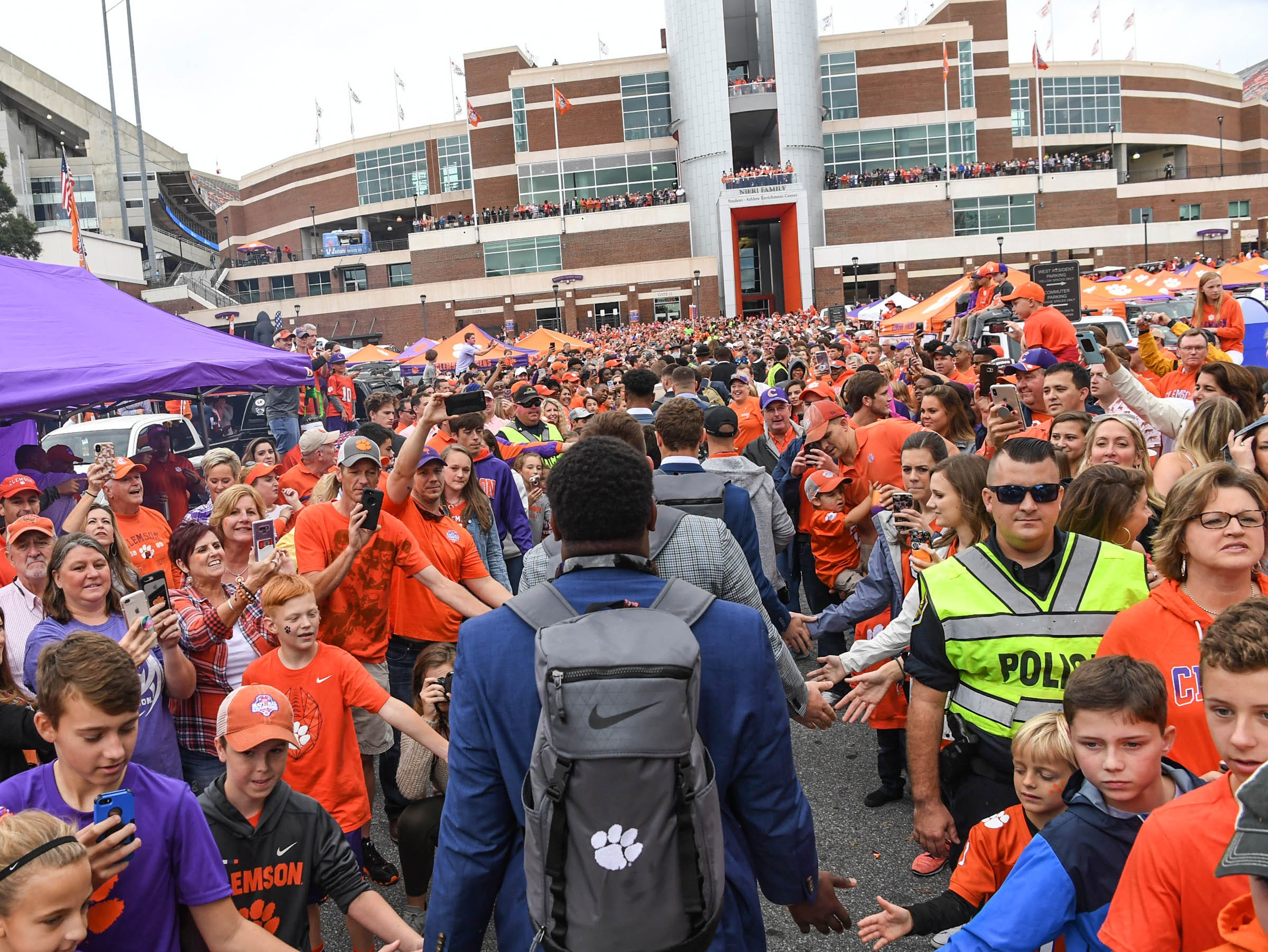 Clemson football Tiger Walk before the game in Memorial Stadium on Saturday, October 20, 2018.