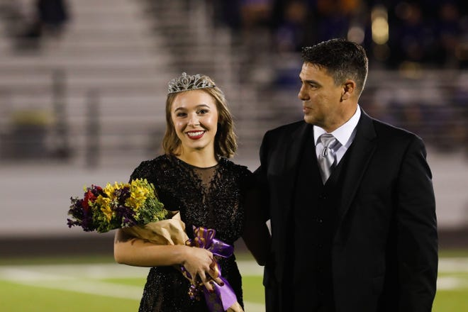 Alexis Gomez, a senior, was named 2018 homecoming queen at Wylie High School on Friday at Bulldog Stadium. She was accompanied by her father, Alejandro.