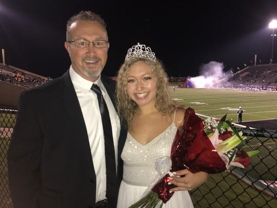 Senior Pearce Bjorlie was chosen 2018 homecoming queen at Cooper High School. She was accompanied by her father, Michael.