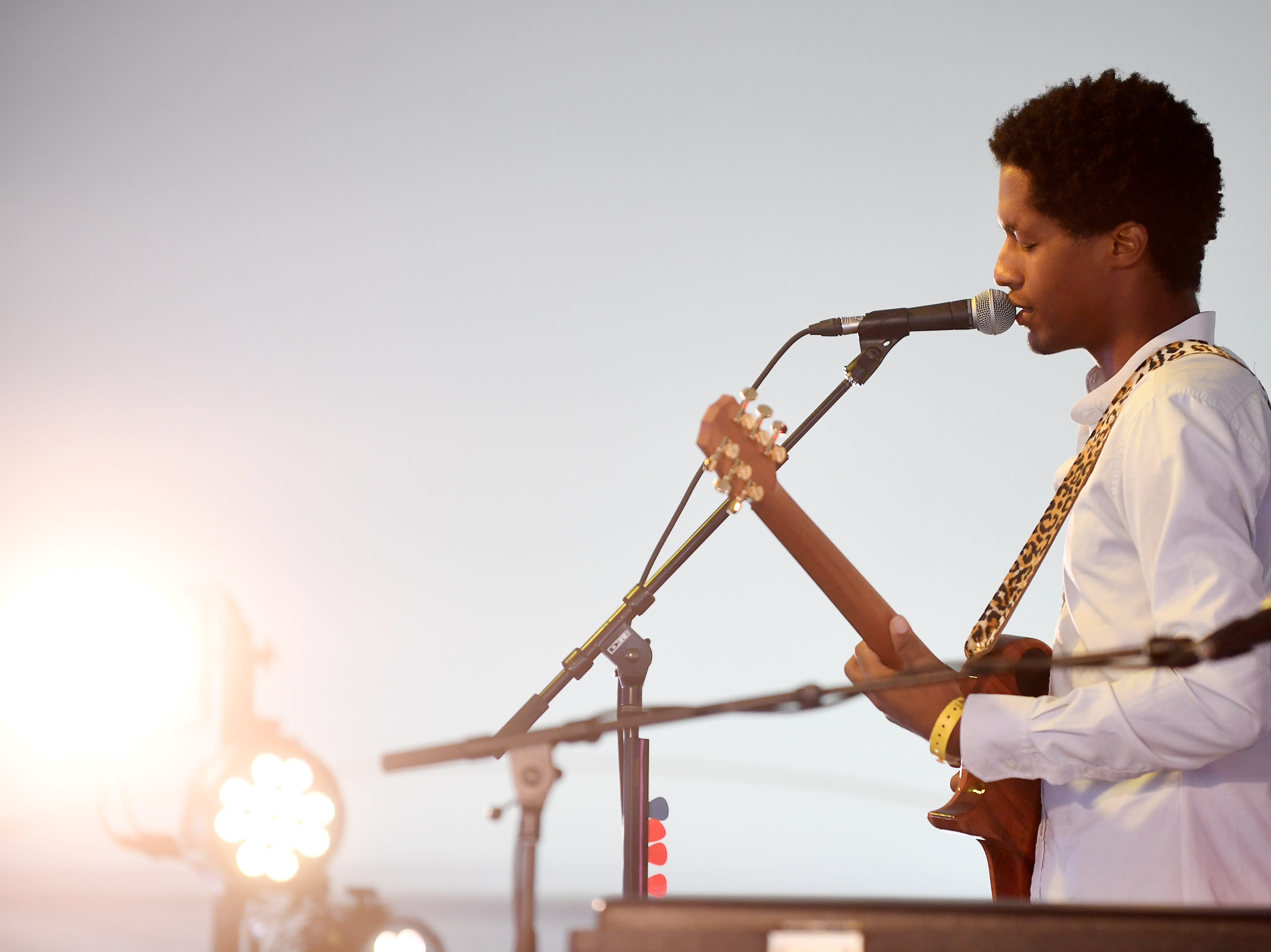 Ron Artis II performs at the 47th LEAF Festival at Lake Eden in Black Mountain Oct. 20, 2018.