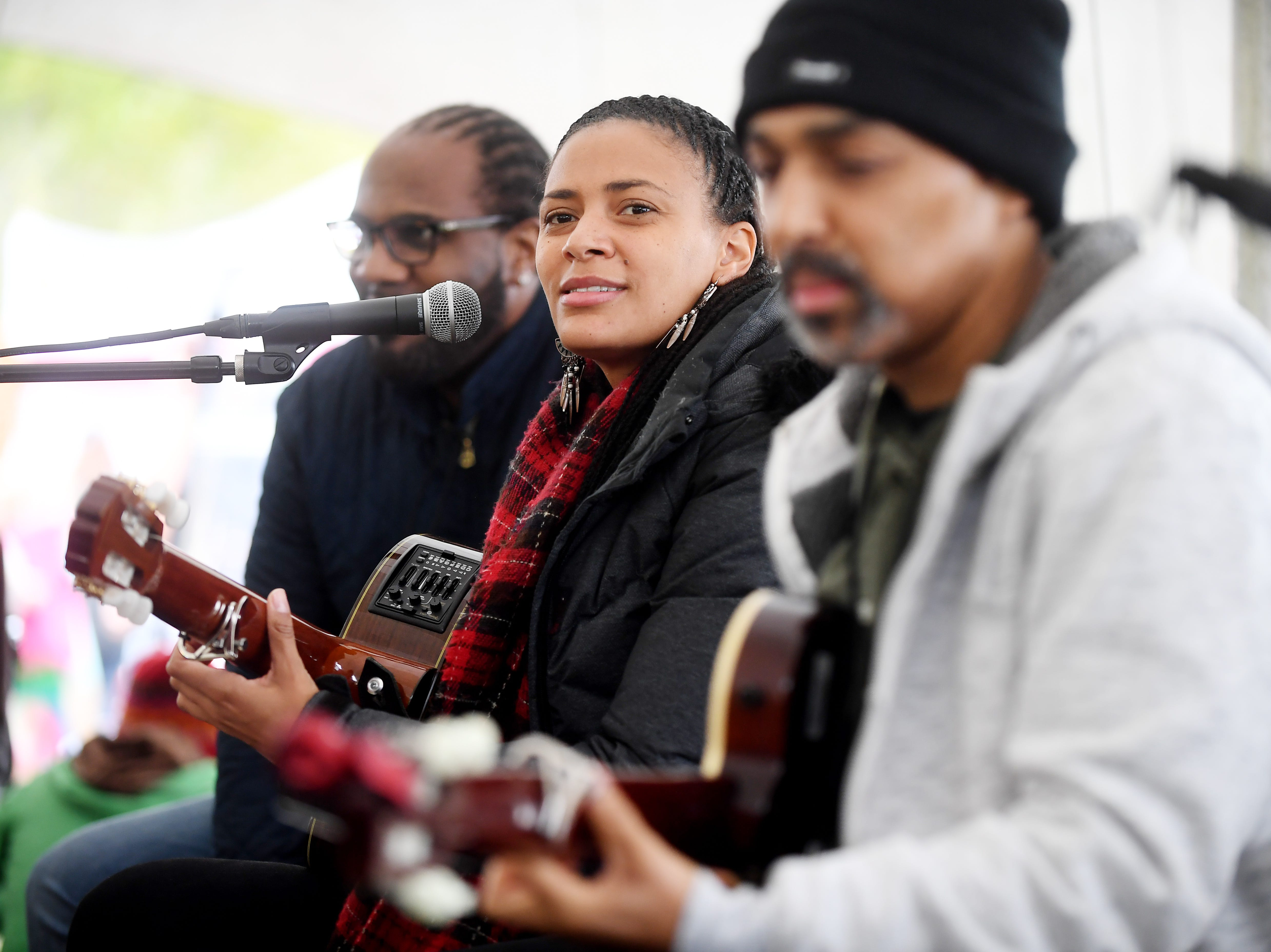Sona Jobarteh performs at the 47th Lake Eden Arts Festival in Black Mountain Oct. 20, 2018.