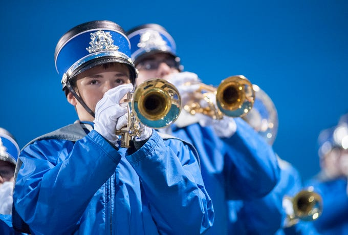 Wynford's band performs before the game against Mohawk.