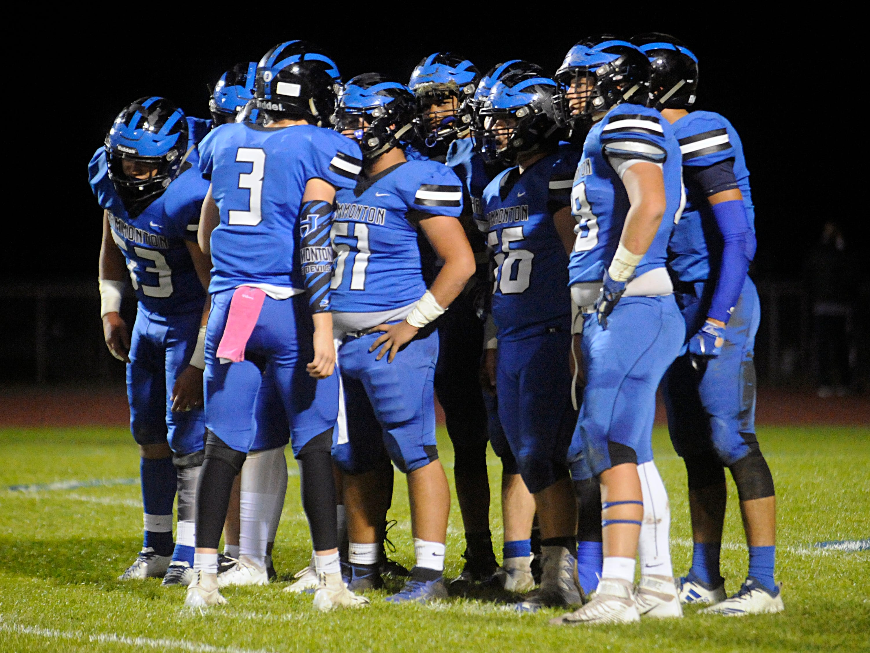 The Eastern High School football team defeated Hammonton on the road, 13-12, on Friday, October 19, 2018.