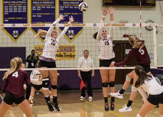 The District 14 Volleyball Coaches Association released its all-district volleyball teams Monday as they recognized a handful of local athletes.