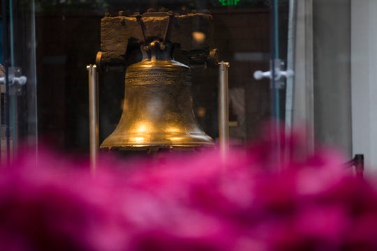 Liberty Bell on display at Independence National Historic Park on Friday, Oct. 19, 2018, in Philadelphia.