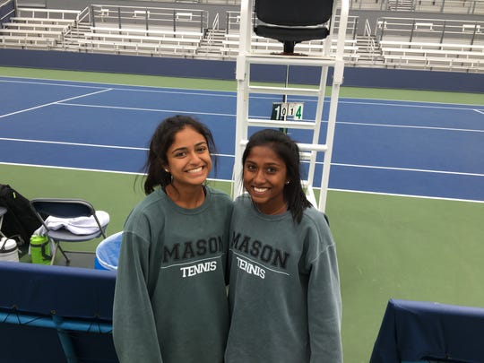 Mason juniors Ananya Aggarwal, left, and Sanjana Reddy had an easy path to the Division I state semifinals, but then struggled against the tandem from Mayfield.