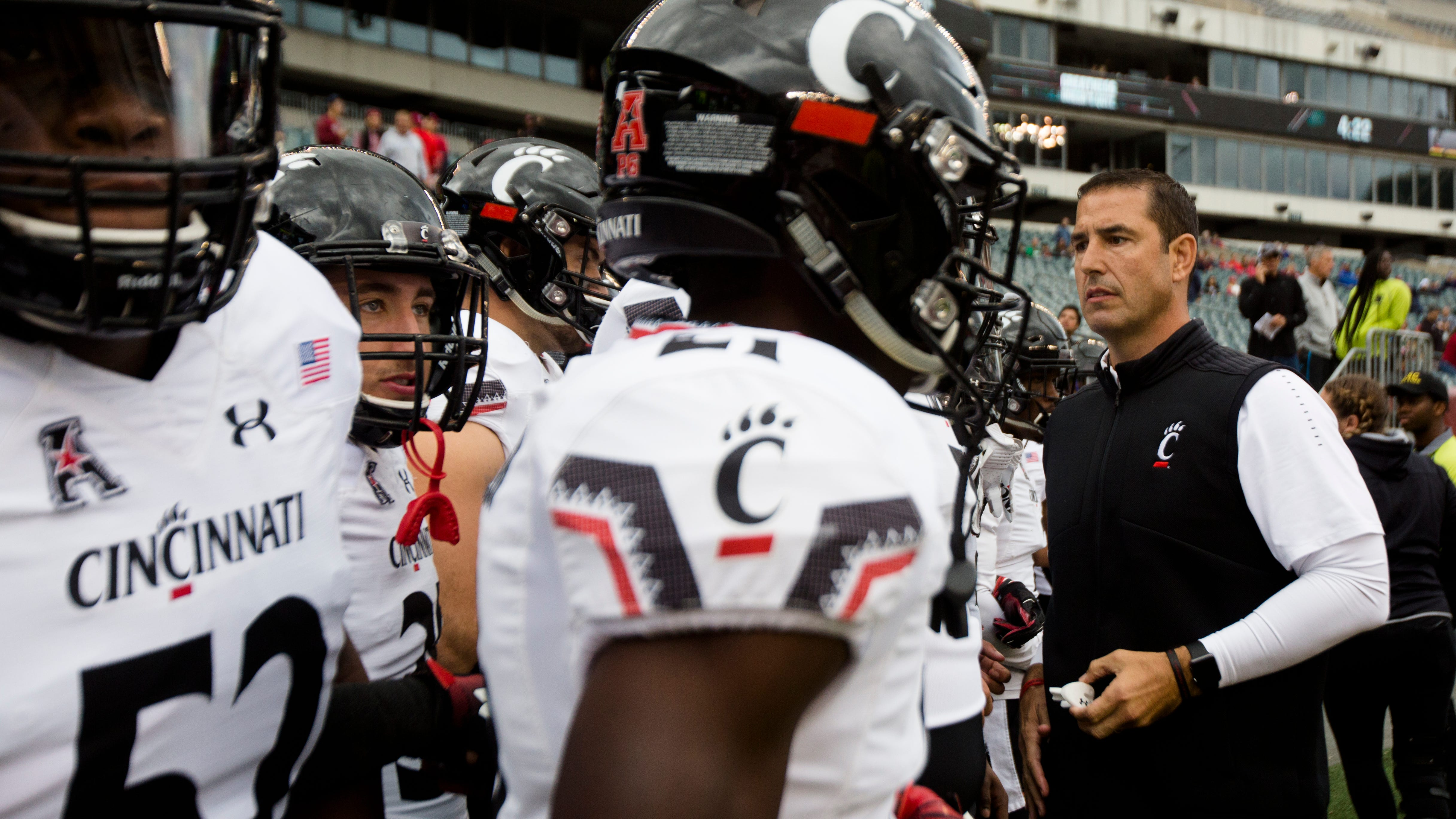 UC's Luke Fickell, players look ahead to SMU: 'Very upbeat, but we've got a long way to go'