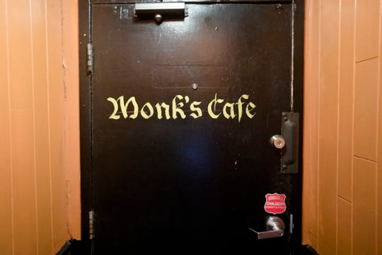 The entrance into Monk's Cafe on Friday, Oct. 19, 2018, in Philadelphia, Penn.