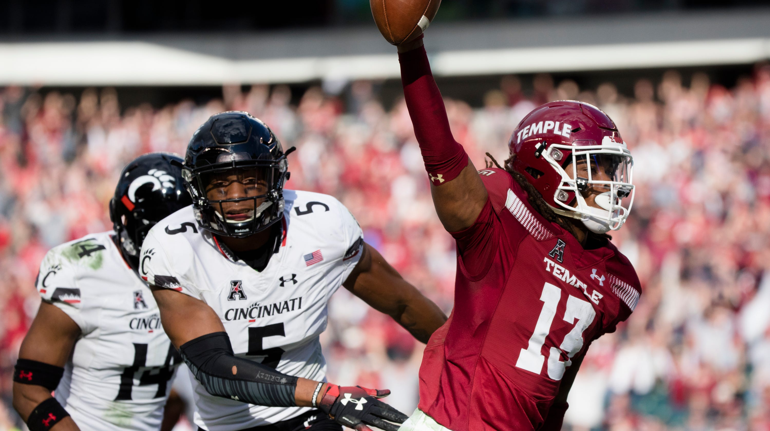 16660133498 Instant analysis  UC Bearcats fall to Temple in OT for first loss of season