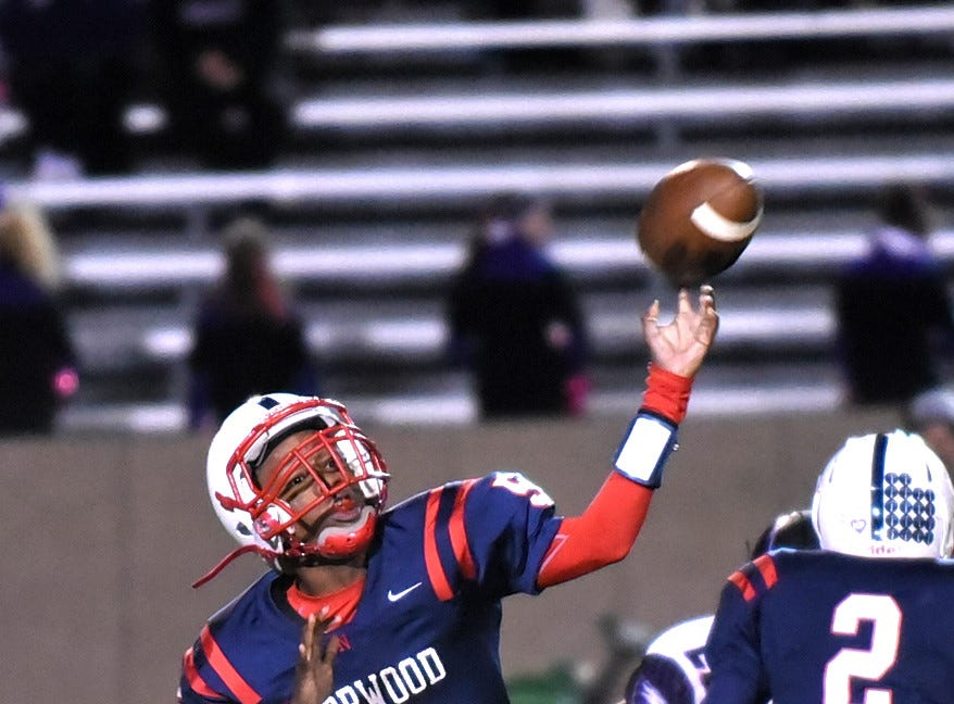 Norwood Quarterback Shawn Williams delivers a strike for the Indians, October 19, 2018.