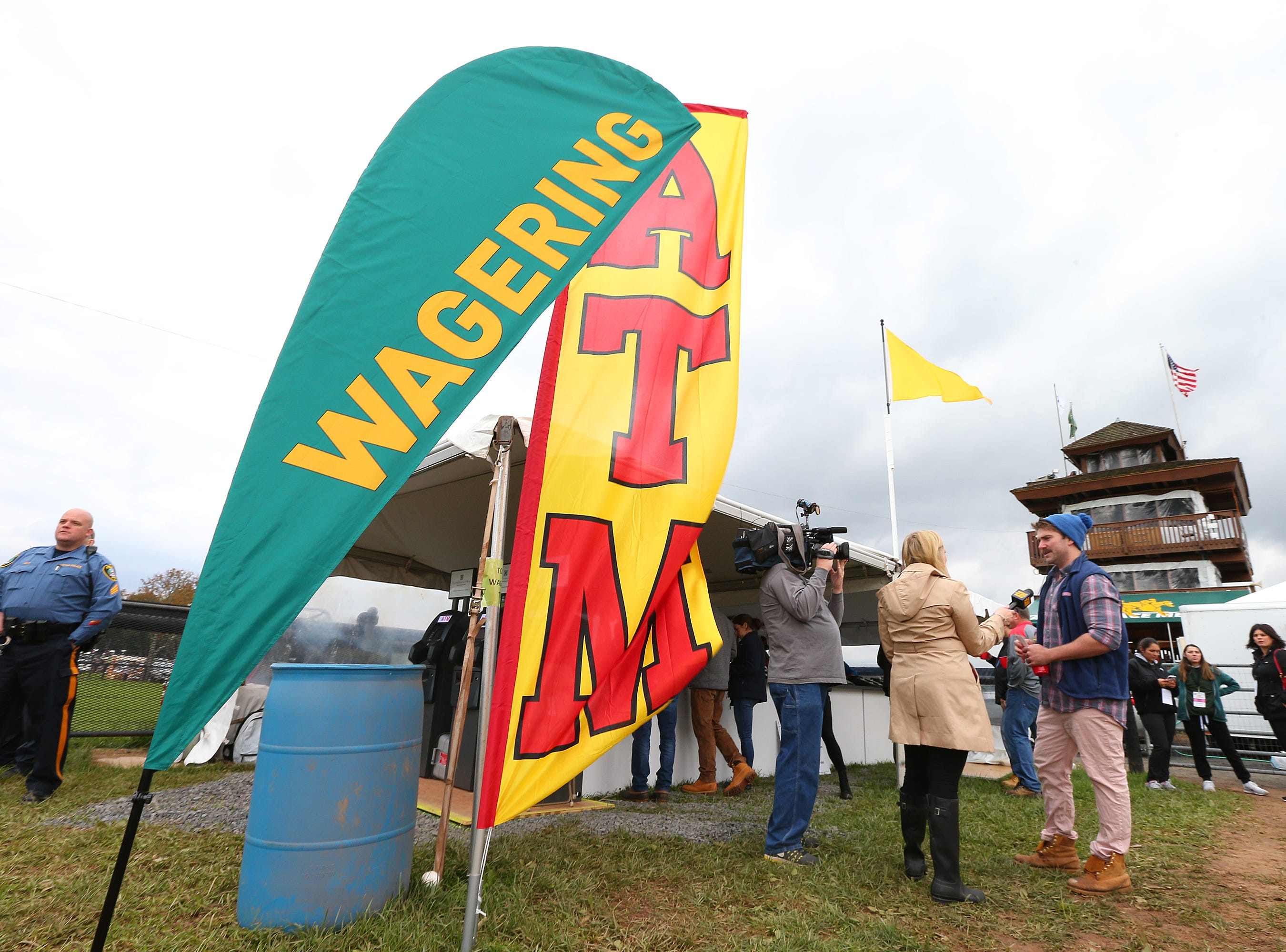 Wagering is now legal during the 98th running of the Far Hills Race Meeting at Moorland Farm in Far Hills, N.J. on Saturday, Oct. 20, 2015. Photo by Rich Schultz/ HNT