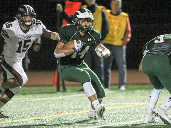 Ridge's Christian Sweeney runs the ball against Phillipsburg on Friday, Oct. 19, 2018.