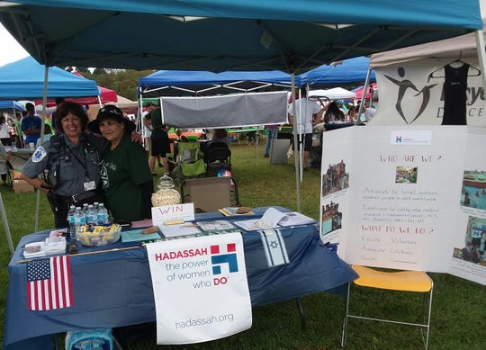 Community Day was held on Sunday, Oct. 7, in East Brunswick. The day brought more than50 people to the East Brunswick chapter of Hadassahbooth.Picturedis the Hadassah booth with members (left to right)Sandy Roth and Carol Weisfelner.