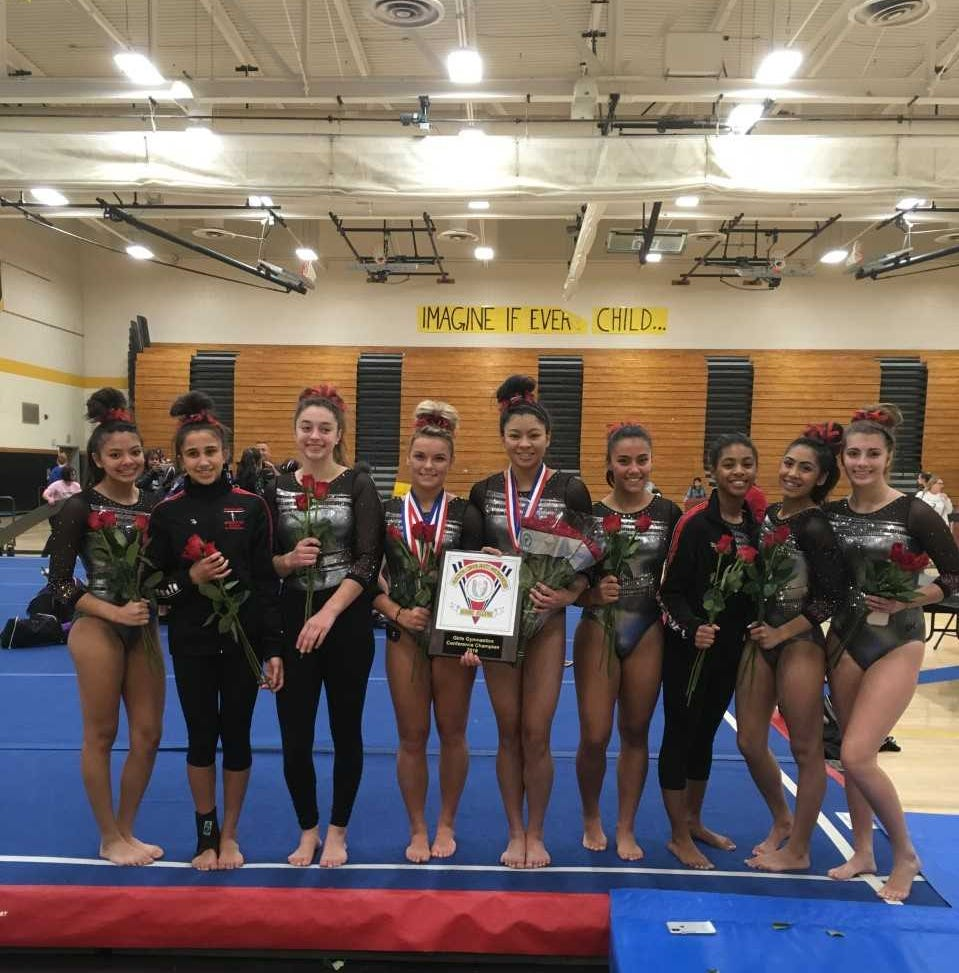 Some drama, but Bishop Ahr, Agarwala capture fourth-straight GMC gymnastics titles