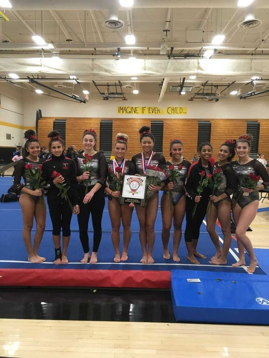 2018 Gymnastics Bishop Ahr Team After Winning Gmcs