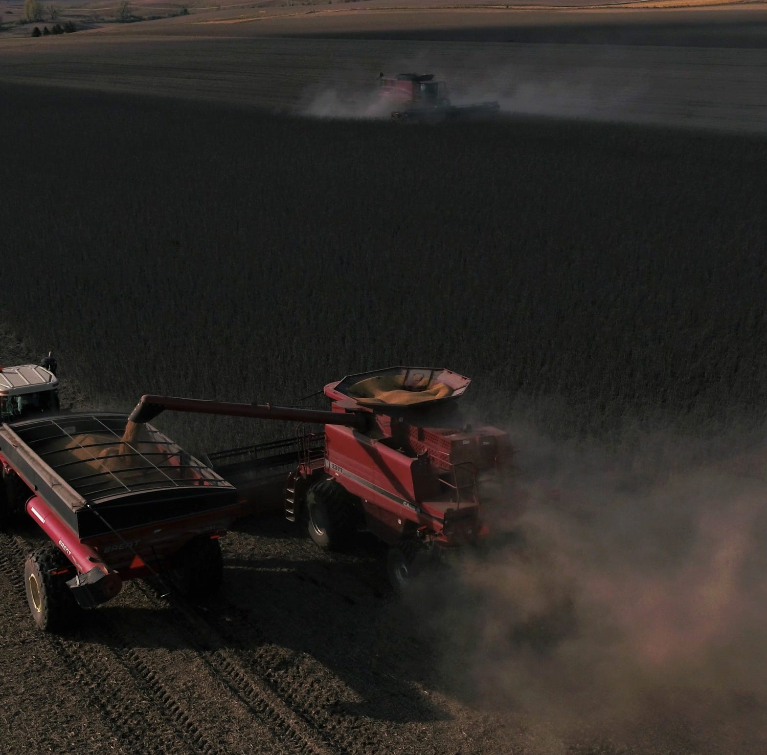 'That's what you do when there's a tragedy': Iowa farmers help harvest neighbor's final crop