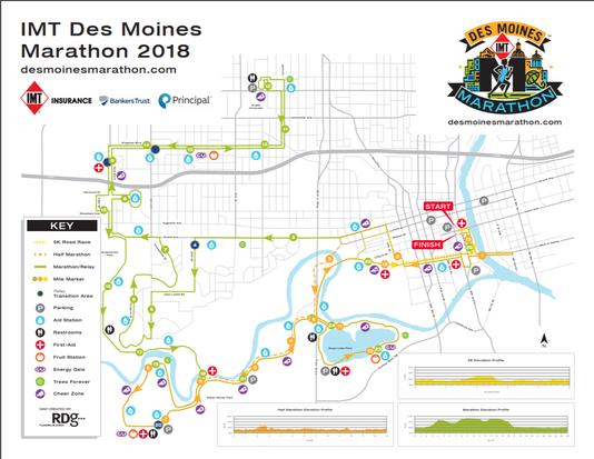 Des Moines Marathon Map