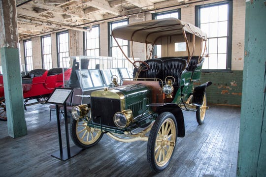Vintage Fords are on display at the  Ford Piquette Avenue Plant.