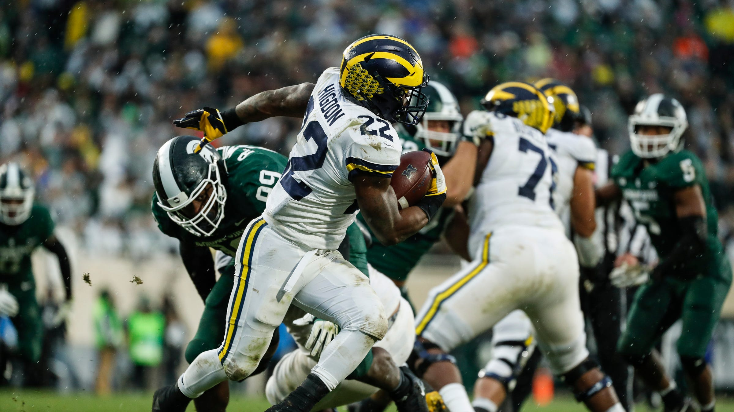 Michigan football stock watch: Offensive line surges at Michigan State