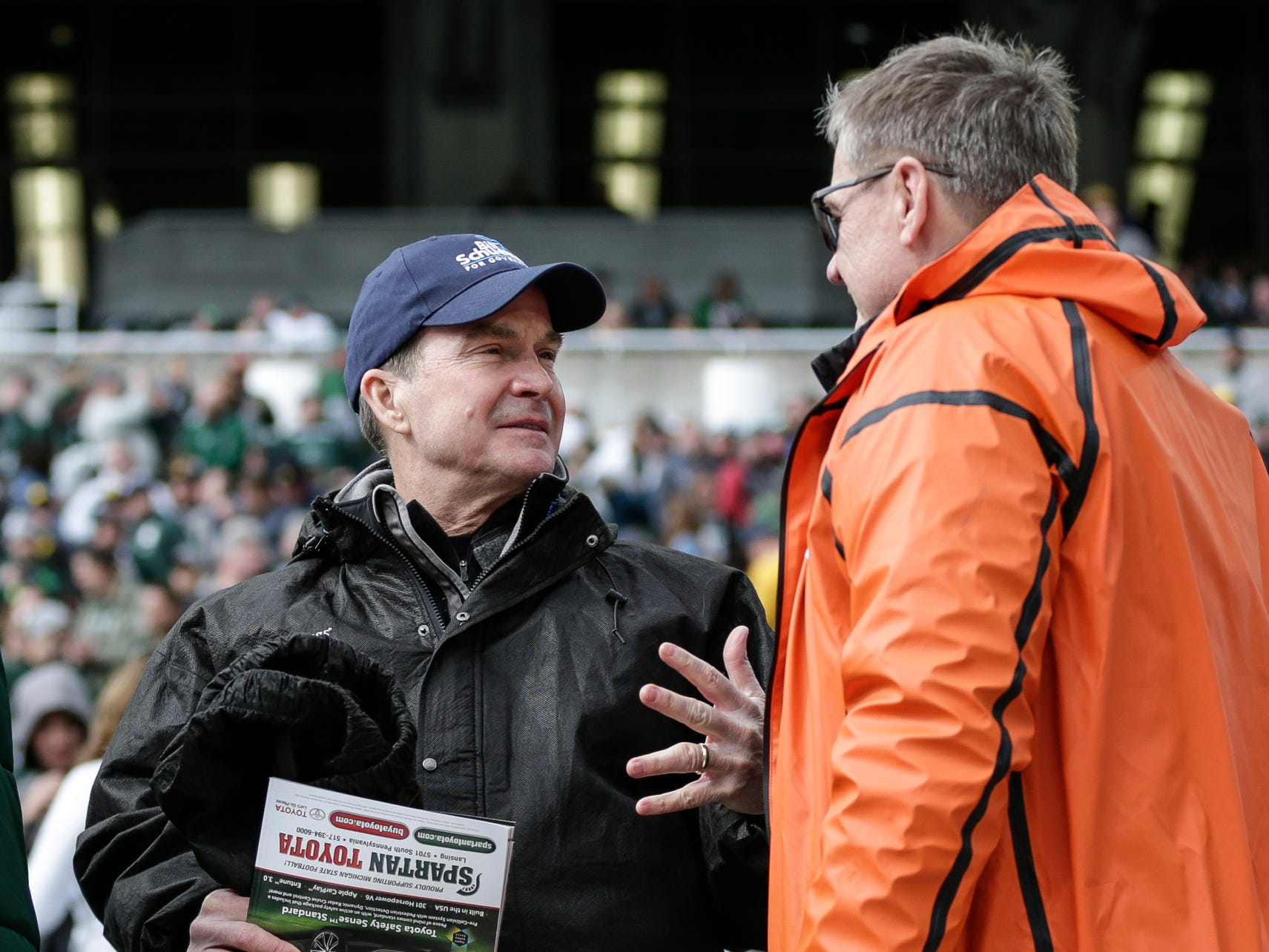 Republican gubernatorial candidate Bill Schuette during the Michigan-Michigan State game at Spartan Stadium on Saturday, Oct. 20, 2018.