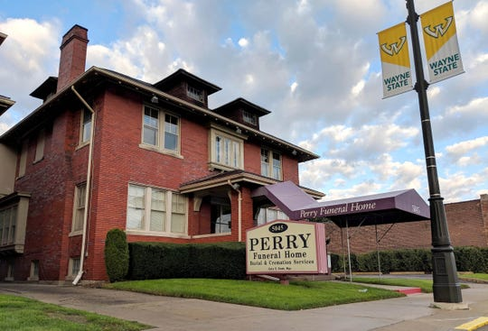 The Perry Funeral Home in Detroit on Saturday, October 20, 2018. Using a search warrant, the Detroit Police removed 63 remains of fetuses from the funeral home near Wayne State University on Friday, Oct. 19, 2018.