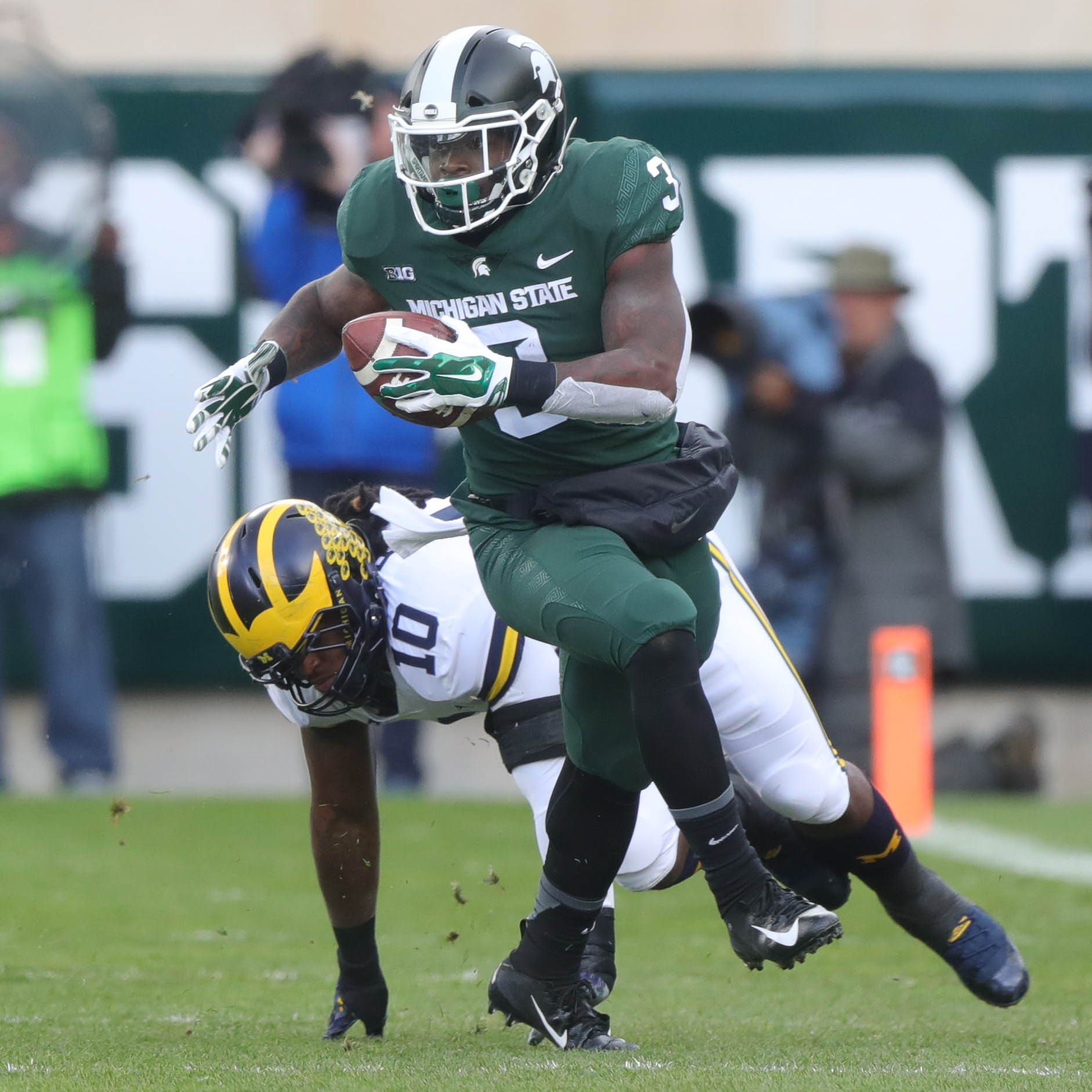 Michigan State football's LJ Scott signed by Cleveland Browns