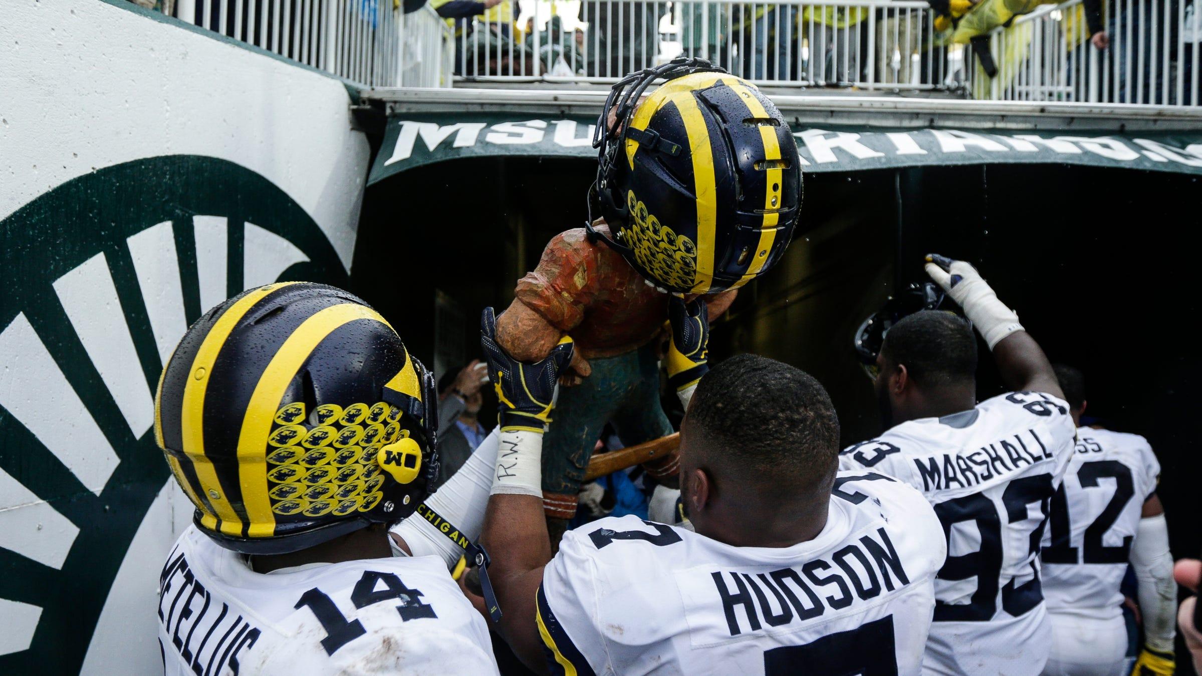 Michigan Football Pushes Michigan State Around In Road Win