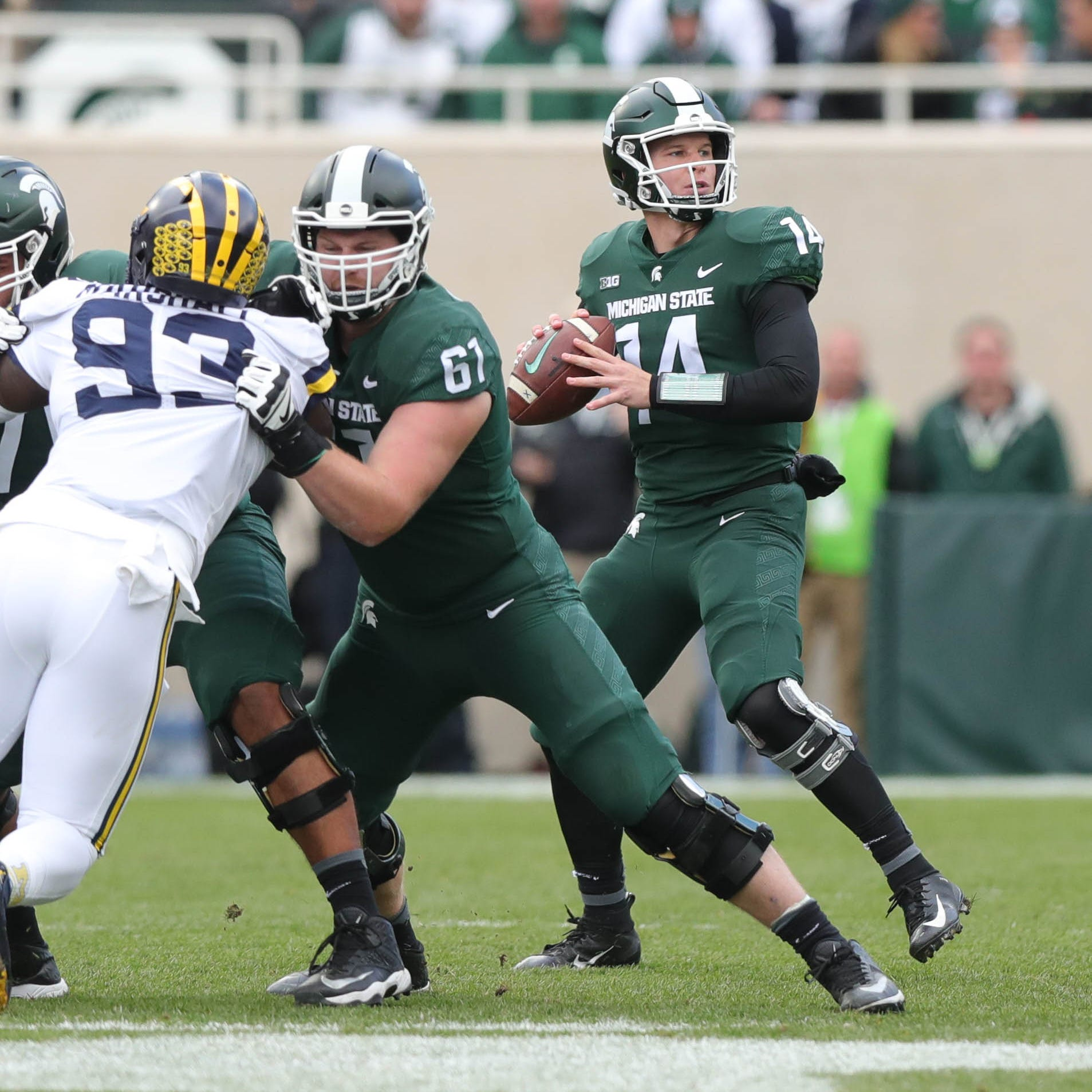 Whoa! MSU football converts epic TD pass to Brian Lewerke vs. Michigan