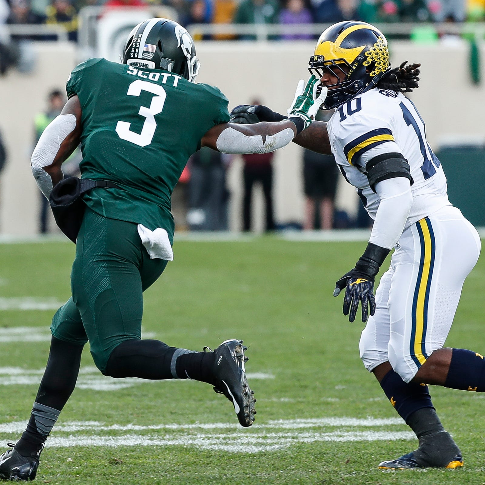Michigan football's Devin Bush on MSU logo swipes: 'I just got caught up'