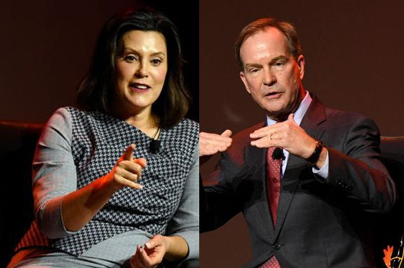 Gubernatorial opponents Gretchen Whitmer and Bill Schuette discussed their stark differences on how to govern the state in separate interviews Friday