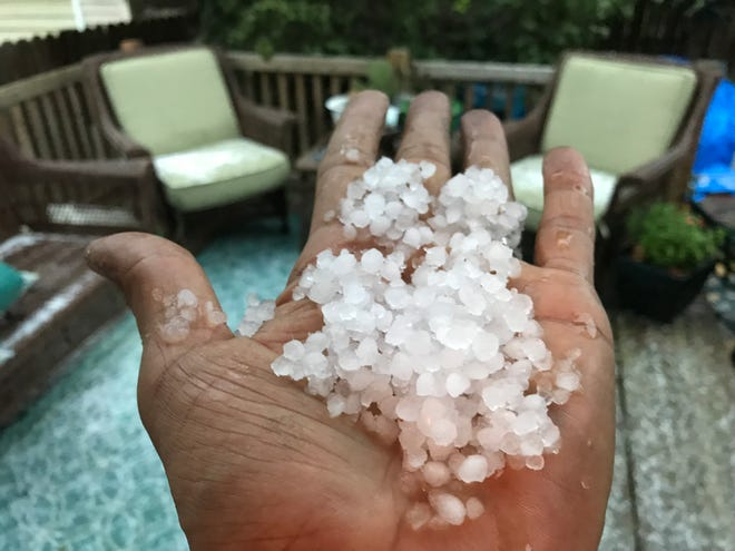 A hail storm in Royal Oak on Saturday, Oct. 20 produced storms and cold temperatures in Metro Detroit.
