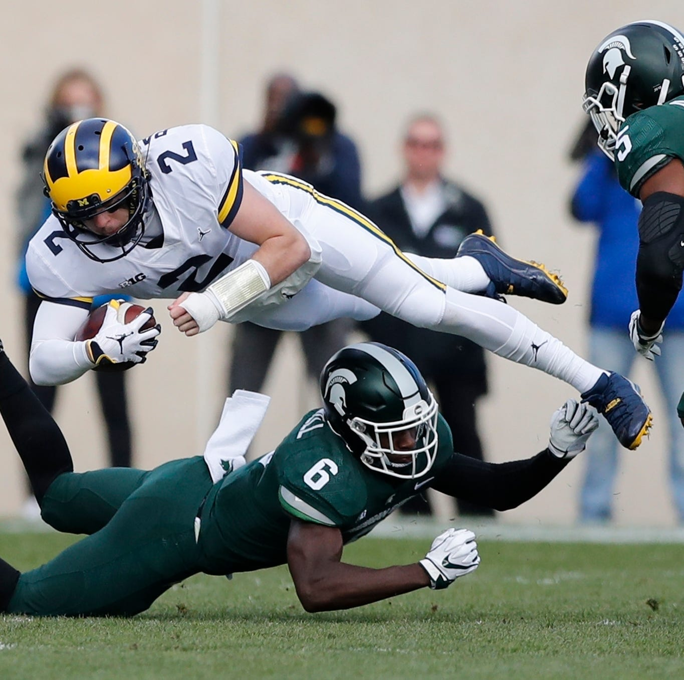 Live updates: Weather delay suspends UM-MSU matchup