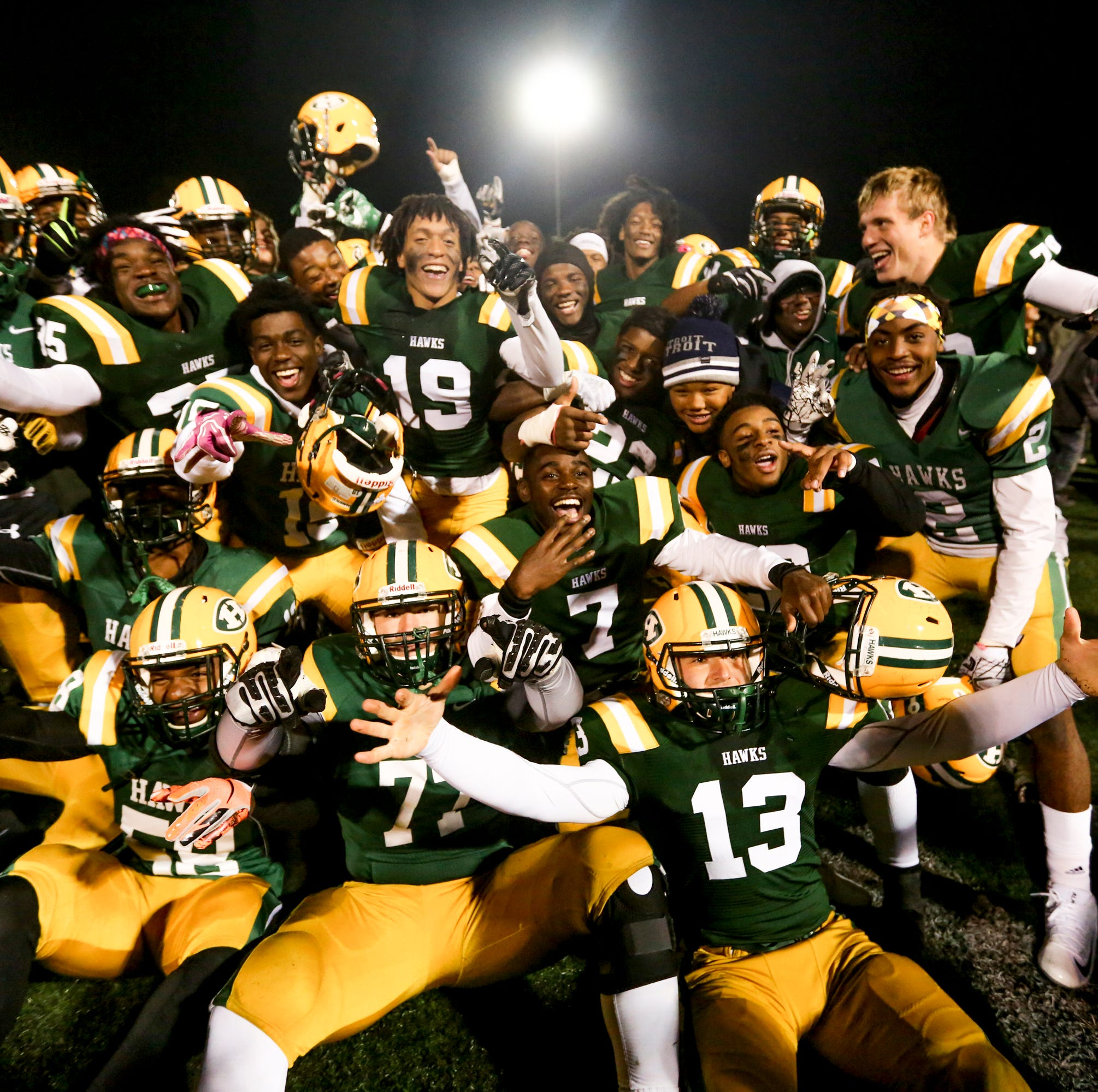 Harrison hammers Farmington, lives to play another game