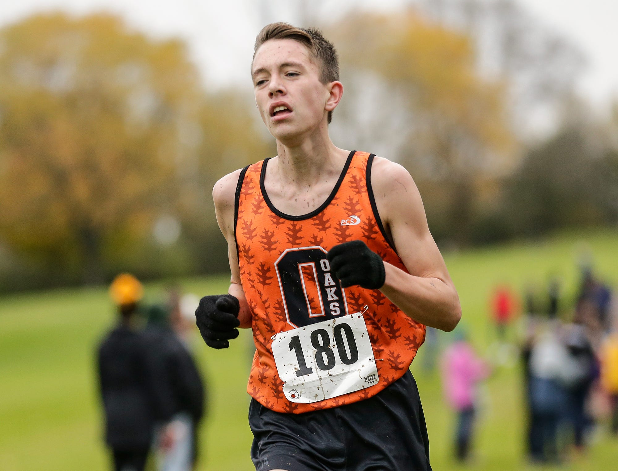 North Fond du Lac High School's Xavier Lasee runs in the WIAA Division two Mayville sectional cross country meet at the Mayville golf course Friday, October 19, 2018. Doug Raflik/USA TODAY NETWORK-Wisconsin