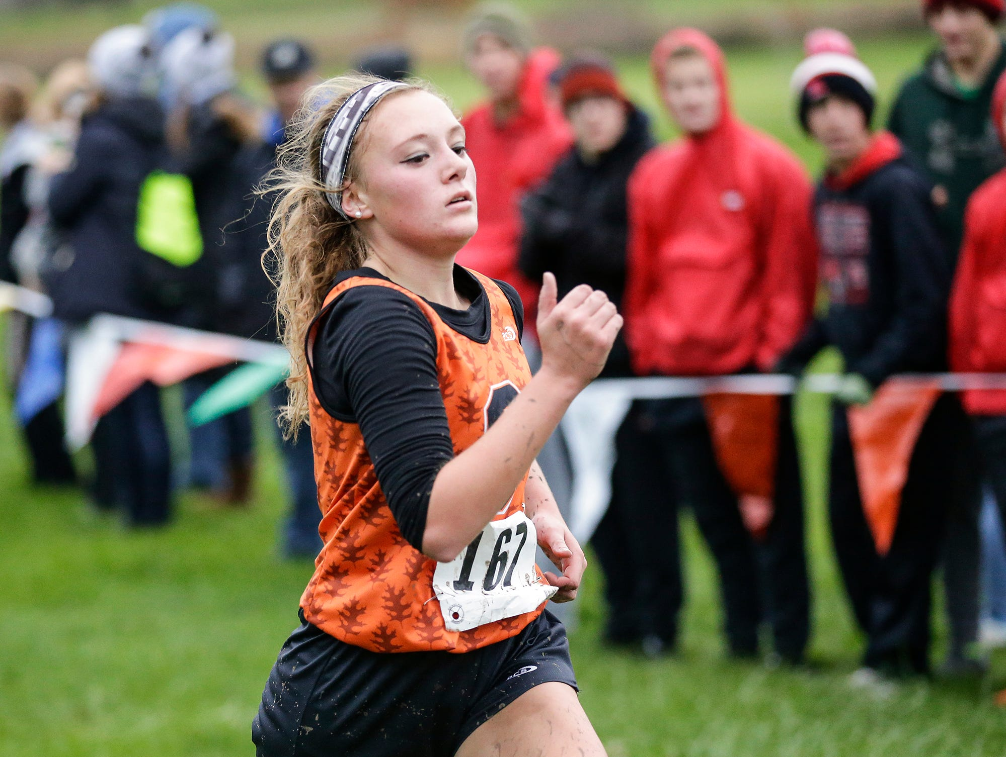 North Fond du Lac High School's Avery Conger runs in the WIAA Division two Mayville sectional cross country meet at the Mayville golf course Friday, October 19, 2018. Doug Raflik/USA TODAY NETWORK-Wisconsin