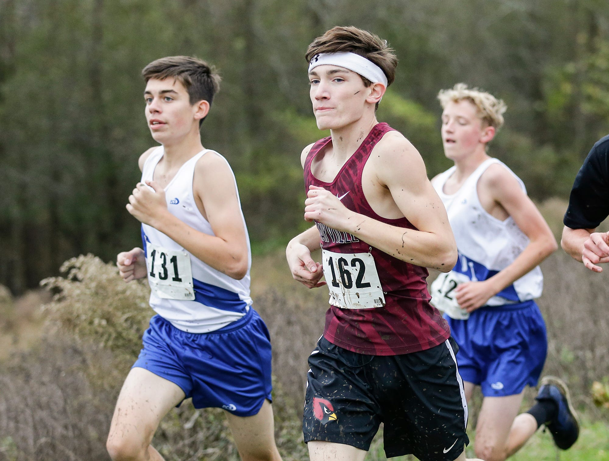 Mayville High School's Paddy McFadden runs in the WIAA Division two Mayville sectional cross country meet at the Mayville golf course Friday, October 19, 2018. Doug Raflik/USA TODAY NETWORK-Wisconsin