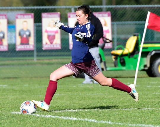 Genoa goalkeeper Ryan Lay kept her team in a 2-1 setback to Woodmore with a shutout second half.
