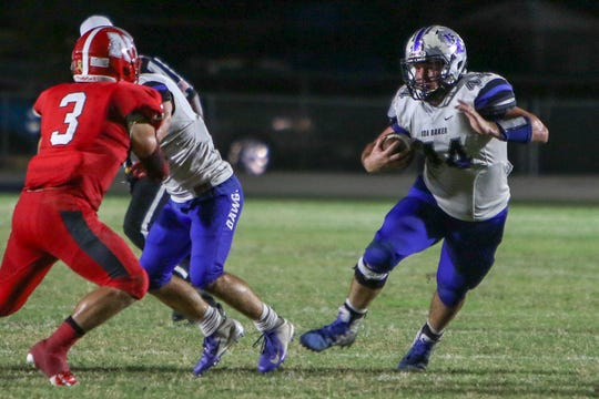 Scenes from the Ida Baker vs. North Fort Myers high school football game on Friday, Oct. 19, 2019.