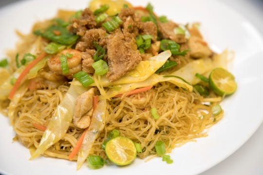 Pancit is one of the Filipino dishes served at Eat Sarap, a Filipino restaurant, located inside Flamingo Island Flea Market in Bonita Springs.