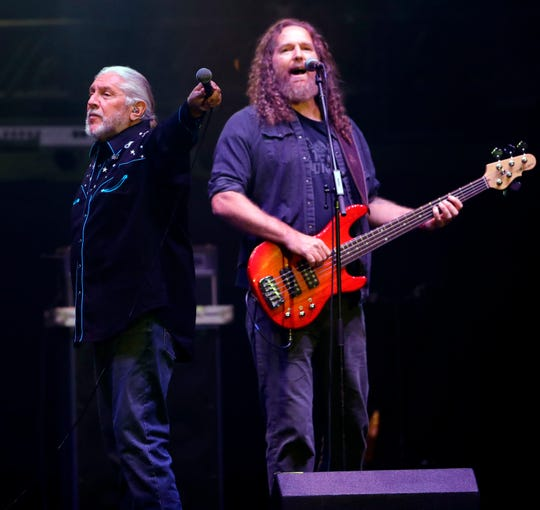 The Marshall Tucker Band performs ahead of Lynyrd Skynyrd to a crowd of about 7,000 Friday at the Resch Center.