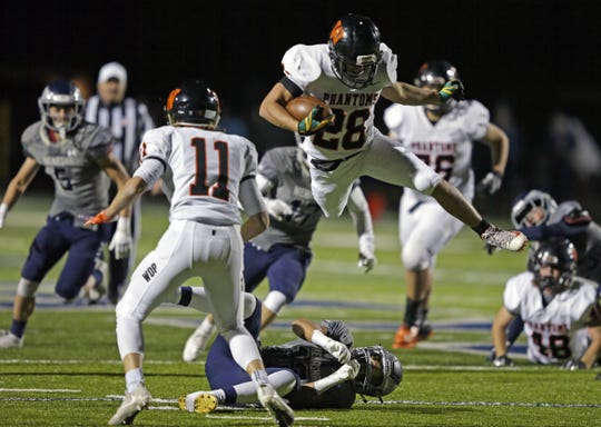 West De Pere sophomore running back David Vanderlogt, who helped the Phantoms beat Menasha earlier this season, will miss the rest of the playoffs with a broken collarbone.
