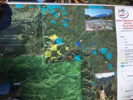 The white border highlights the Falls Creek property.