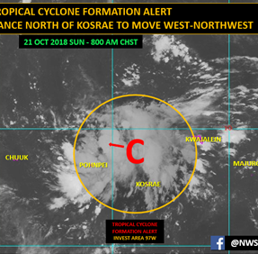 Weather disturbance could develop and affect Guam by midweek