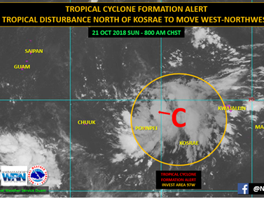 Tropical disturbance could develop and affect Guam by Wednesday, Oct. 24