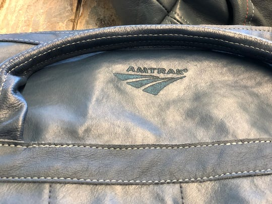 An Amtrak logo on one of PUP's finished products.