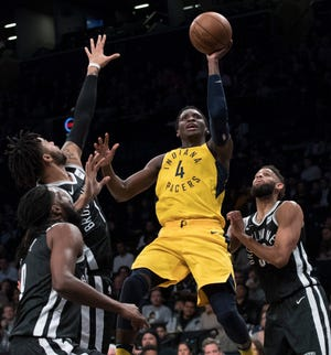 Victor Oladipo and the Pacers return to Indy to play the Nets for the second game of a back-to-back.