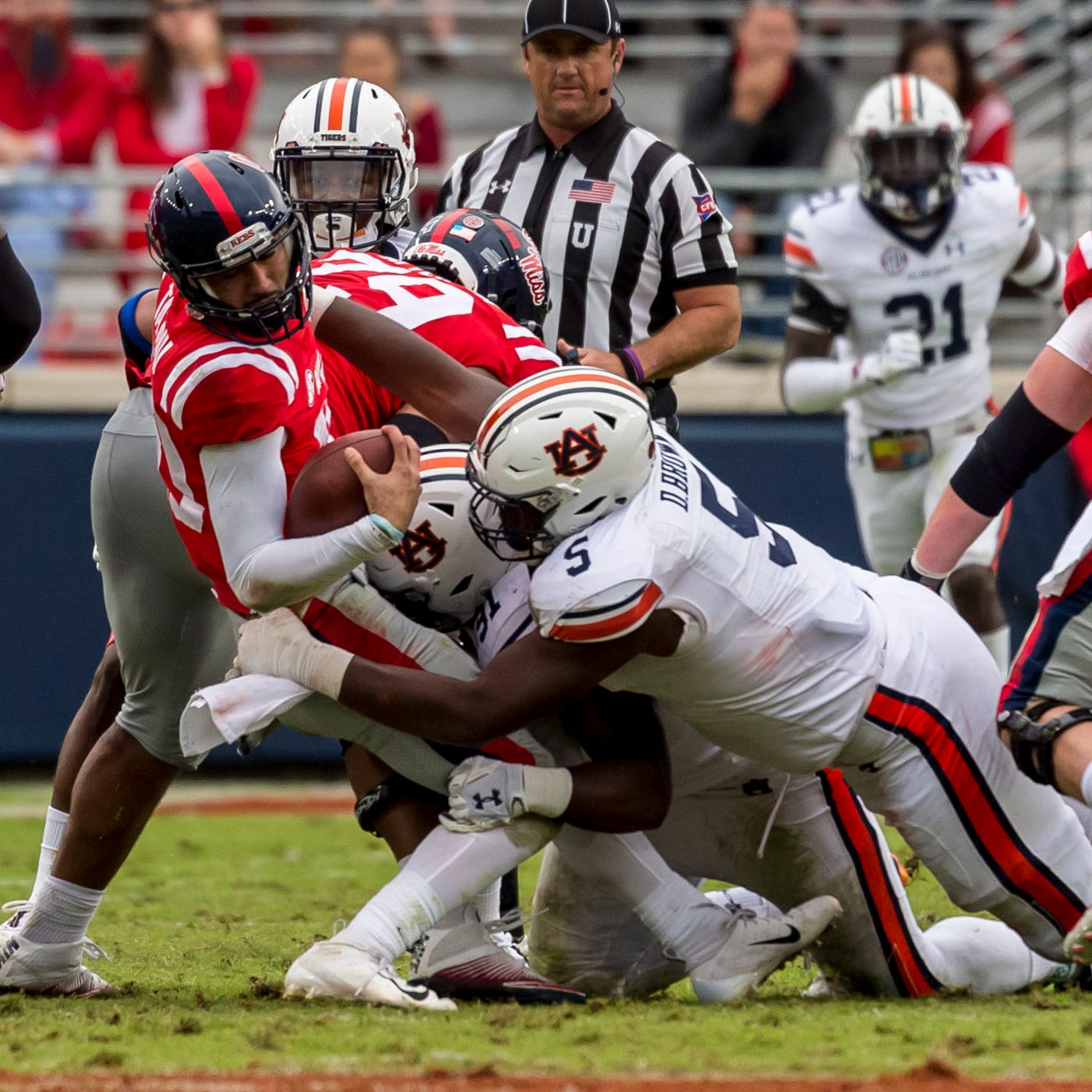 Film study: What went wrong for Ole Miss in failed red zone trips versus Auburn